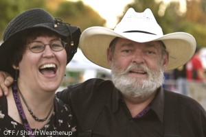 Joyce MacPhee and long-time Main Stage host, Chopper McKinnon